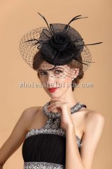Elegant and Refined British Veiled Cocktail Hat