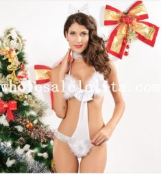 Sweet Fluzzy Bunny One-Piece Bikini
