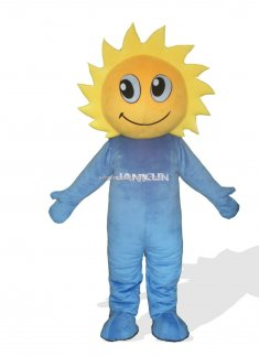 Sunflower In Blue Clothes Plush Adult Monster And Fantasy Costume