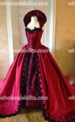 Gothic Victorian Backless Corset gown with Collar. Custom size/color New Style!