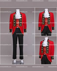 High-end Mens Red Palace Suit Prince Blazer Suits Medieval Mens Vintage Costume