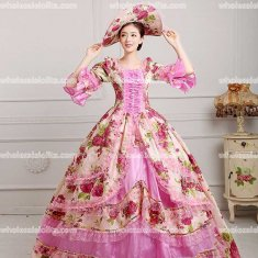 18th Century Rococo Style Marie Antoinette Inspired Prom Dress Wedding Ball Gown PINK