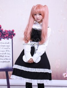 Black Cotton Ruffled Punk Lolita Dress
