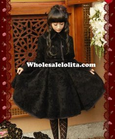 Winter Double-breasted Thicken Wool Floral Classic Lolita Coat