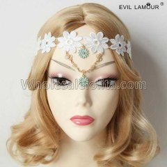 Queen Lace Flower Headband Masquerade Accessories