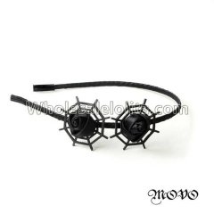 Halloween Black Gothic Spider Web Headband Masquerade Accessories
