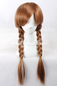 Brown FROZEN Princess Anna Cosplay Wig