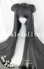 Cosplay Long Straight Hair Wig with Braids for Girls