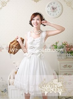 Swan Lake Series Sweet Pure White Chiffon JSK Lolita Dress