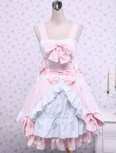 Top Sale Pink Cotton Sweet Lolita Dres