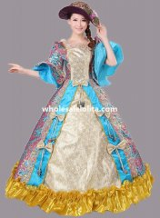 Historical Marie Antoinette Theme Party Dress Ball Gown Theatre Clothing N2