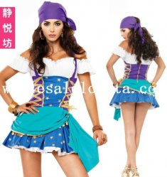 Sexy Off the Shoulder Women Pirate Halloween Costume Dress