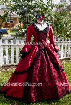 Victorian Holiday Gown Marie Antoinette Sparkle Lace and Trim Your Size/color Custom