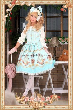 Infanta Love&Canary Printing Sweet Lolita Dress JSK