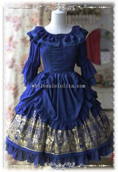 Infanta HOLY CHURCH Printing Chiffon JSK Lolita Dress