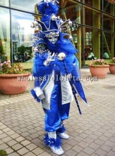 Blue CARNIVAL OF VENICE Masquerade Costume Cosplay Costume for Men