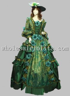 Hot Sale Green17 18th Century European Court Marie Antoinette Baroque Rococo Dress