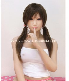 Mimic 1:1 Pretty Girl Full Silicone Semi-solid Inflatable Love Doll, 3D-eyes, 160cm Tall