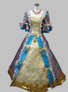17 18th Century Sky Blue Marie Antoinette Ball Gown Baroque Rococo Prom Celebrity Evening Dresses