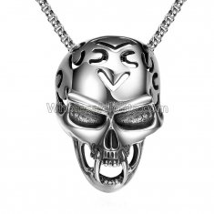Fashionable Platnium Necklace with Skull Pendant for Versatile Occasions