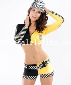 Cool Racing Driver Coat and Shorts for Women