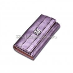 Luxury Designer Famous Brand Carteras Long Clutch Card Holder Ladies Women Wallets Female Bag Ladies Women's Purse Walet Cuzdan Purple