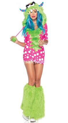Lovely Green Little Monster Adult Halloween & Christmas Costume