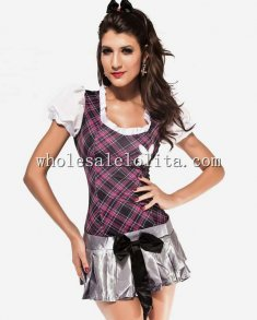 Lovely School Girl Check Dress