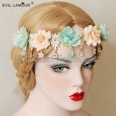 Bohemia Bride Flowers Ring Headdress Masquerade Party Accessories