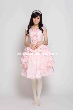 Sweet Pink Lolita Dress Victorian Princess Gothic Ball Gown Cosplay Costumes