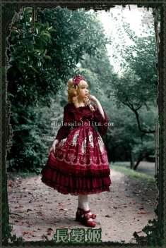 Infanta TANGLED Printing Sweet Lolita Dress JSK