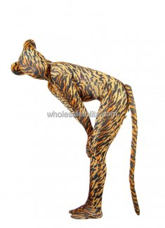 Fashionable Lady Tiger Full Body Lycra Spandex Suit
