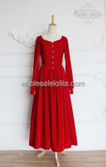 Vintage Royal Court Red Pleuche Gown