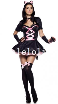 Seduce Black and Pink Adult Cat Cosplay Animal Halloween Costume