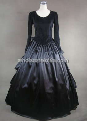 Gothic Black Multi Layer Back Victorian Inspired Dress