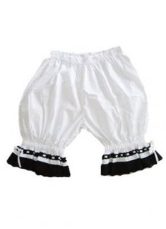 Special Cotton White and Black Lace Lolita Bloomers