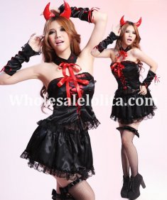 Sexy Black and Red Adult Bull Devil Costume