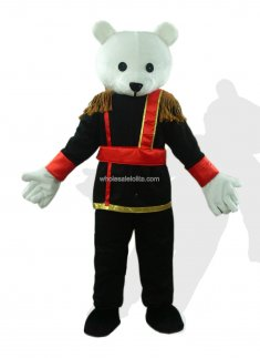 Black And White Adult Teddy Bear Costume