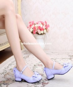 Sweet Bow 6cm High Heel Ladies Classic Lolita Shoes