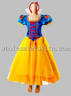 Halloween Princess Snow White Adult Disney Cosplay Costume with Cloak