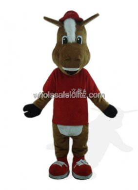 Red Dressed Horse Costume