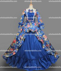 18th Century Rococo Dress Blue Marie Antoinette Victorian Dress Prom/Wedding Dress Ball Gown