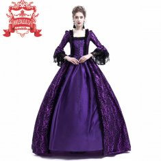 Purple Masked Ball Gothic Victorian Costume Dress