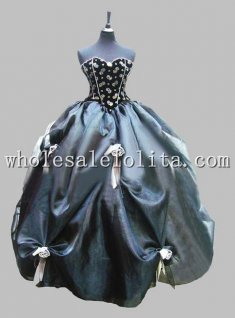 Deluxe Corset Top Sleeveless Victorian Ball Gown Venice Carnival Costume