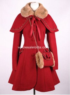 Brand New Red Wool Winter Sweet Coat