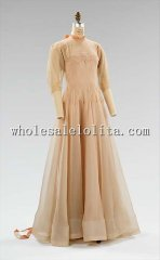 1930s Fashion French Silk Evening Dress