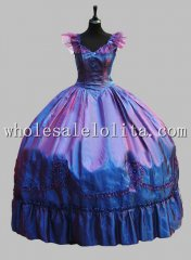 Deluxe Blue New Design Victorian Ball Gown Venice Carnival Costume