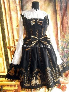Gorgeous Cinderella Embroidery Cotton JSK Lolita Dress