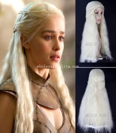 Daenerys Targaryen in TV Play GAME of THRONES Cosplay Wig