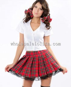 Pure School Girl Shirt and Mini Skirt